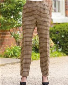 Melbourn Wool Blend Checked Trousers