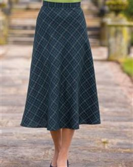 Elsworth Pure Wool Checked Skirt