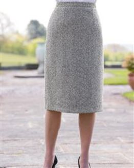Huntingdon Wool Blend Straight Skirt