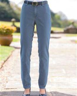 Brax Blue Velvet Trousers