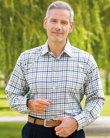 Carlisle Tattersall Check Pure Cotton Twill Shirt