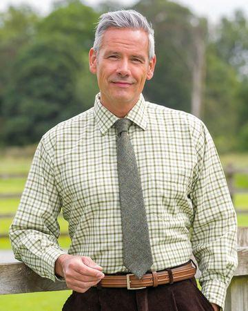 Aintree Tattersall Check Cotton & Wool Shirt