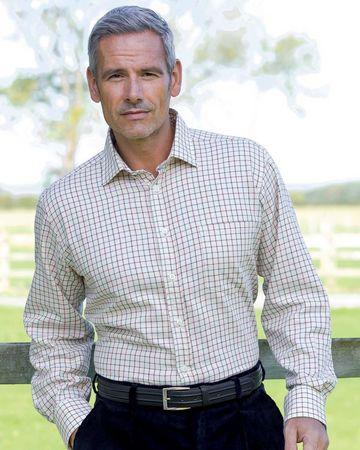 Taunton Tattersall Check Cotton & Wool Shirt