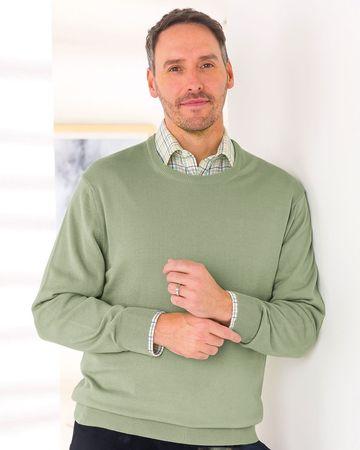 Merino Crew Neck Sweater  Mens