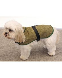 Classic Green Tweed Dog Coat