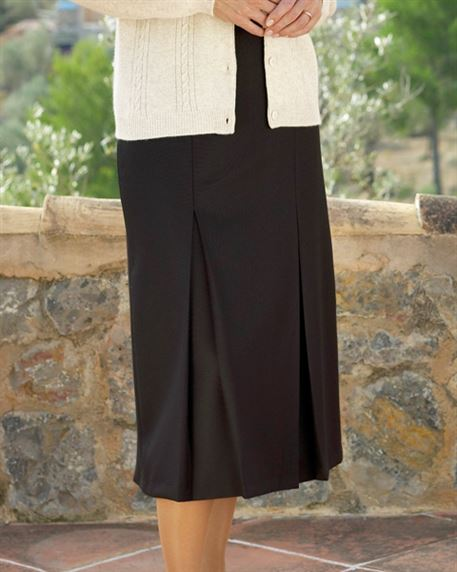 Chocolate Pure Wool Skirt