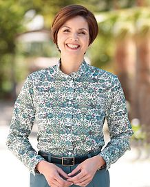 Karen Multi Coloured Pure Cotton Liberty Blouse