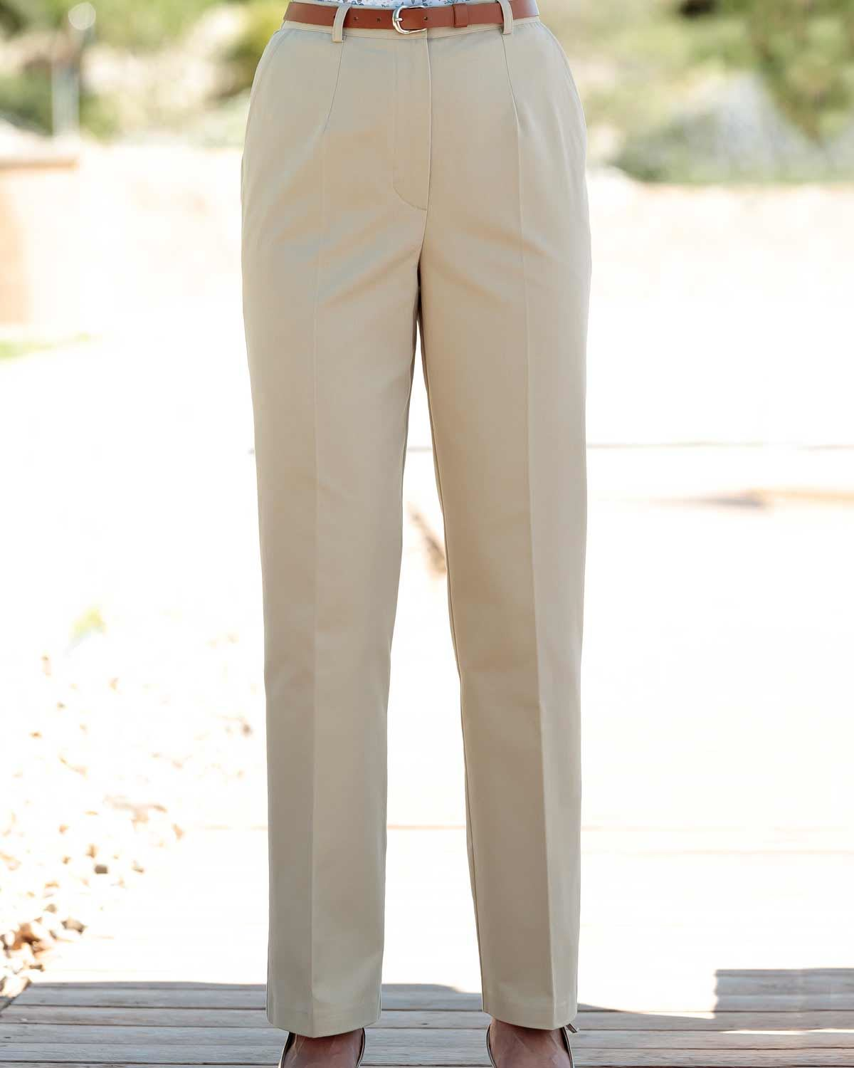 Chino Pleated Front Trousers
