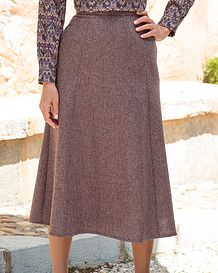 Roseburn Multi Coloured Pure Wool Skirt