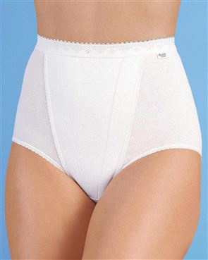 Sloggi Maxi Control Brief Available in White/Skintone