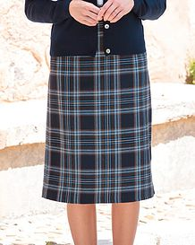 Strome Multi Coloured Wool Blend Straight Skirt