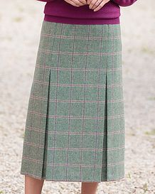 Dundee Multi Coloured Pure Wool Skirt