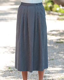 Henley Polyester Mix Navy Skirt
