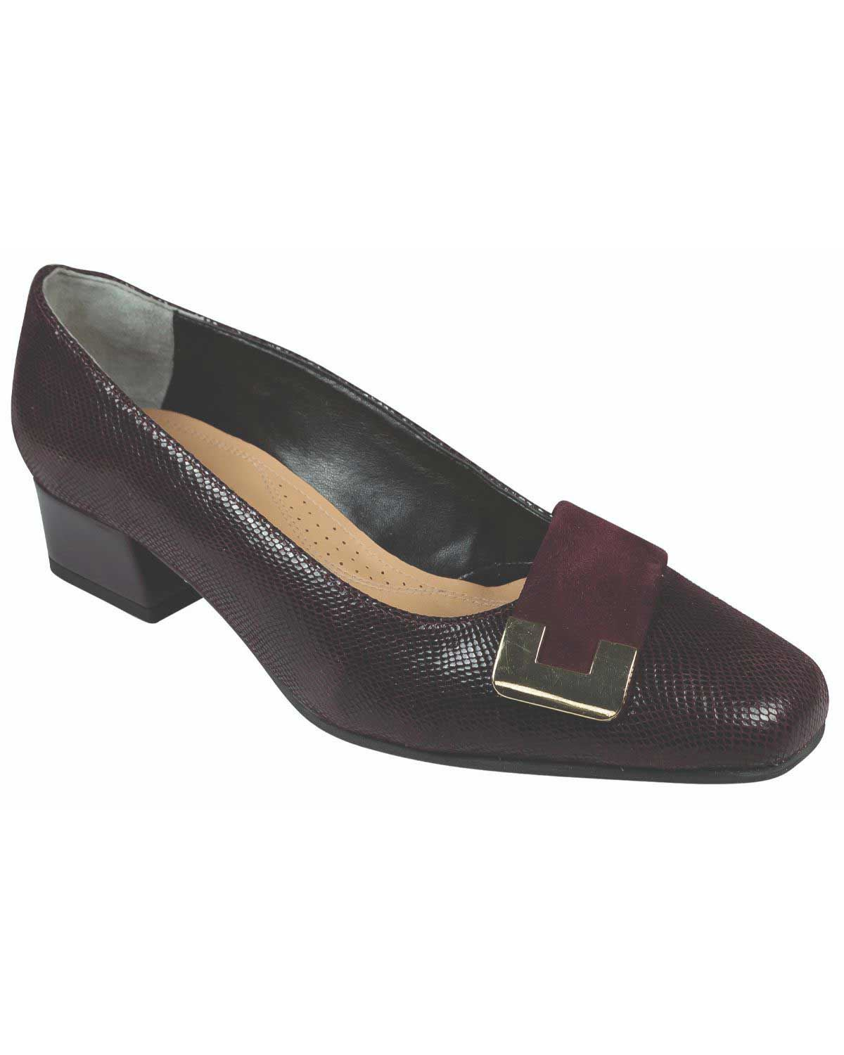 Van Dal Leather Duchess Shoe in Garnet