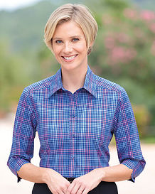 Lillian Checked Pure Cotton Blouse