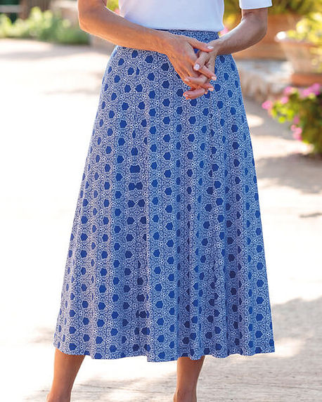 Annabelle Multi Coloured Pure Silky Cotton Skirt