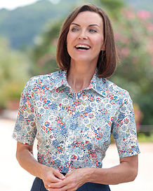 Betsy Multi Coloured Pure Liberty Tana Lawn Blouse