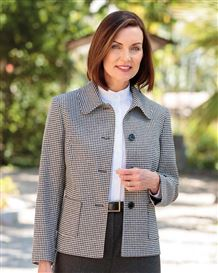 Oxford Checked Wool Mix Jacket