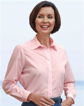 Easycare Long Sleeve Plain Polycotton Shirts