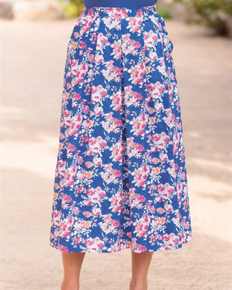 Narissa Multi Coloured Pure Cotton Skirt
