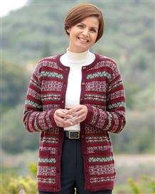 Zoe Pure Lambswool Fairisle Cardigan