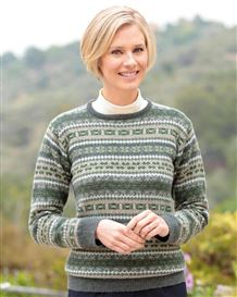 Rosemary Pure Lambswool Fairisle Sweater