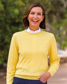 Merino Crew Neck Sweater  Ladies