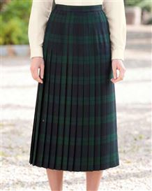 Brampton Pure Wool Pleated Skirt