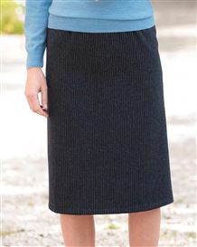 Bamburgh Wool Blend Striped Straight Skirt