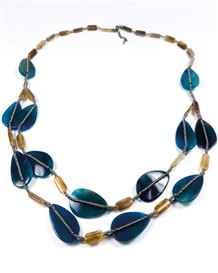 Teal & Taupe Necklace