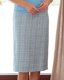 Rimini Checked Cotton Mix Straight Skirt