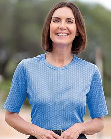 Debbie Patterned Pure Cotton Leisure Top