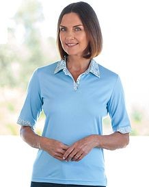 Madeline Pure Cotton Trimmed Polo