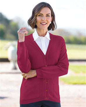 View larger image of Merino Cardigan Available in 17 Colours
