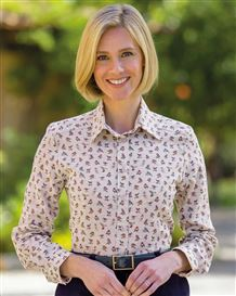 Macie Polycotton Patterned Blouse