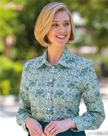 Lexi Pure Cotton Patterned Blouse