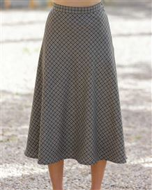Newquay Wool Mix Bias Skirt