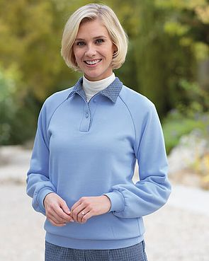 Milano Pale Blue Cotton Mix Leisure Sweatshirt