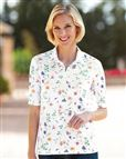 Silky Cotton Printed Polo Isabel