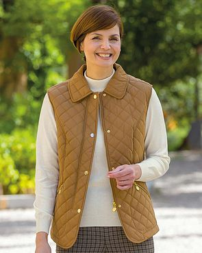 Quilted Gilet - Gold