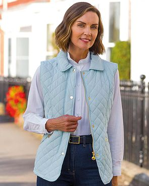 Quilted Gilet - Ice Blue