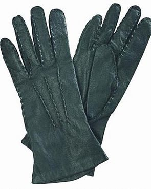 View larger image of Leather and Silk Gloves