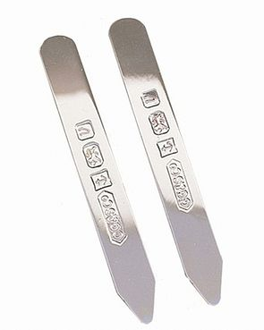 Sterling Silver Collar Stiffeners