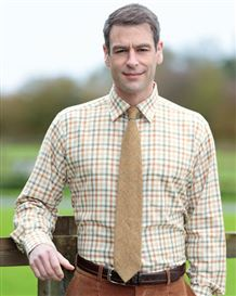 Cotton and Wool Green and Rust Shirt