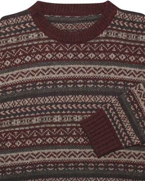 View larger image of Shetland Fairisle Crew Neck