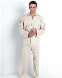 Plain Stone Cotton Pyjamas