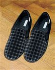 Mens Fabric Check Slippers