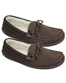 Mens Slippers Leather