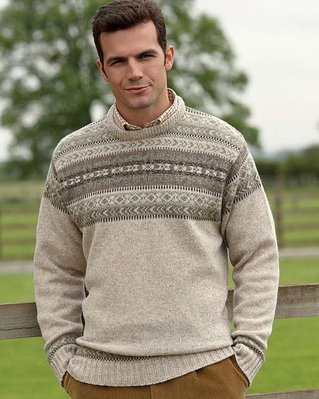 Natural Crew Neck Fairiisle Sweater