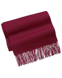 Burgundy Pure Lambswool Scarf